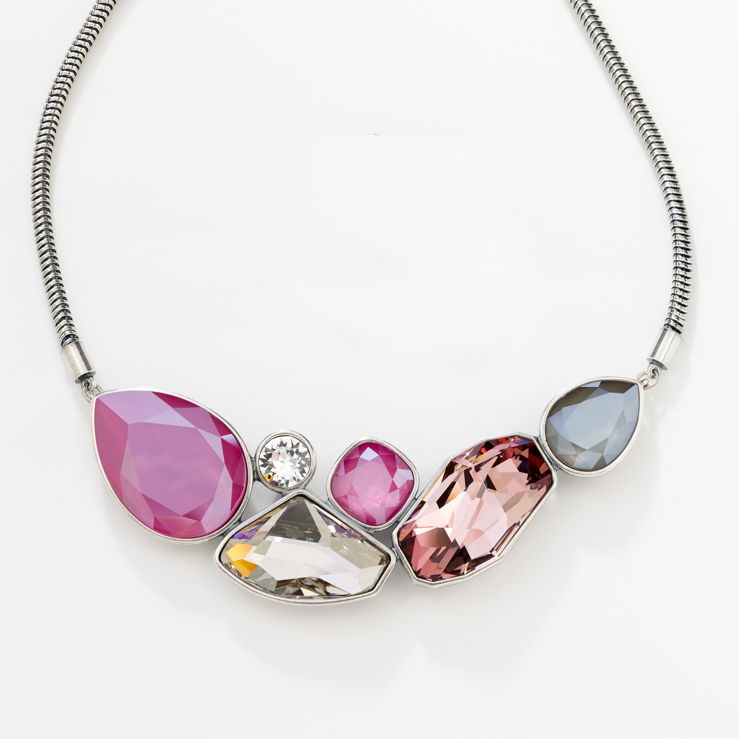 necklace round with sterling crystal home swarovski jewellery silver designs drop beadcaps pastel jewelry
